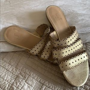 Kate Spade gold sandal